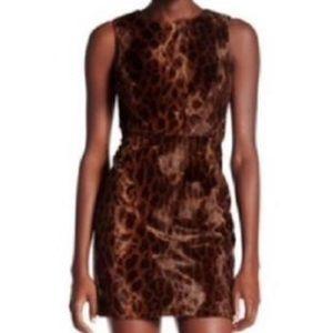 NWT TOPSHOP Faux Fur Leopard Dress